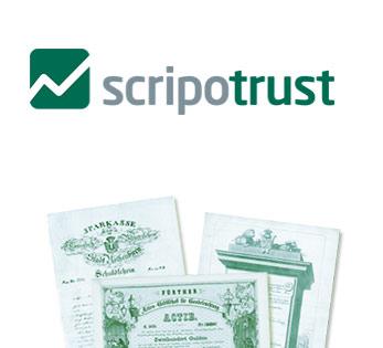 Logo Scripotrust Historische Wertpapiere
